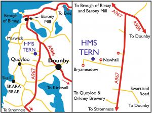 HMS Tern Map